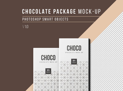 Clean and Realistic Chocolate Packaging Mockup