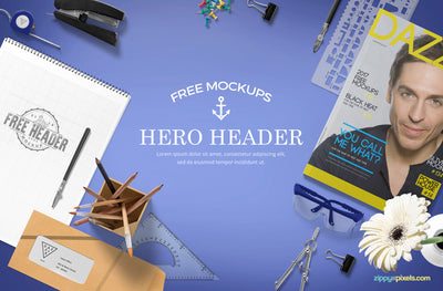 Professional Website Hero Images Mockup Scene