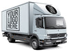 White Box Truck or Van PSD Mockup