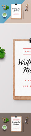 Empty White Writing Pad Mockup PSD