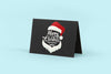 Black Standing Greeting Card Mockup