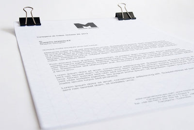 White and Clean A4 Letterhead Close-Up (Mockup)