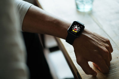 Black Apple Watch Mockup on Wrist