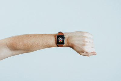 Apple Watch Mockup with Leather Band