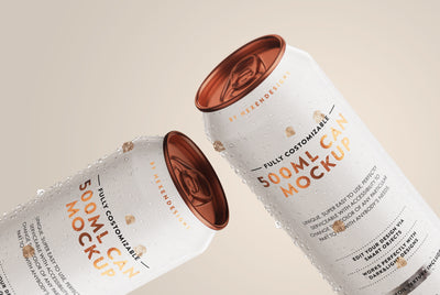 500ml Can PSD Mockup