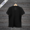 Black Hanging T-Shirt Mockup Back View