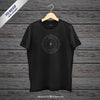 Black Hanging T-Shirt Mockup Front View