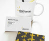 Business Card Office Mockup with a Coffee Cup
