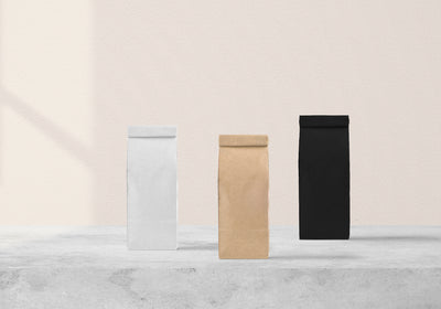 Packaging PSD Mockup for Coffee Bag