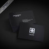 Black Business Card Mockup Set