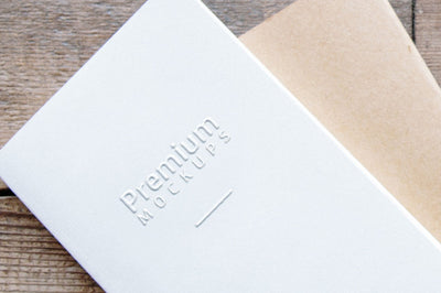 White Embossed Greeting Card Mockup