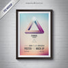 Frame or Poster Mockup with Black Frame