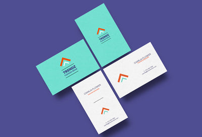 Business Cards Mockup 4 Pieces