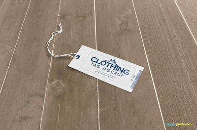 Customizable Clothing Tag Mockup PSD