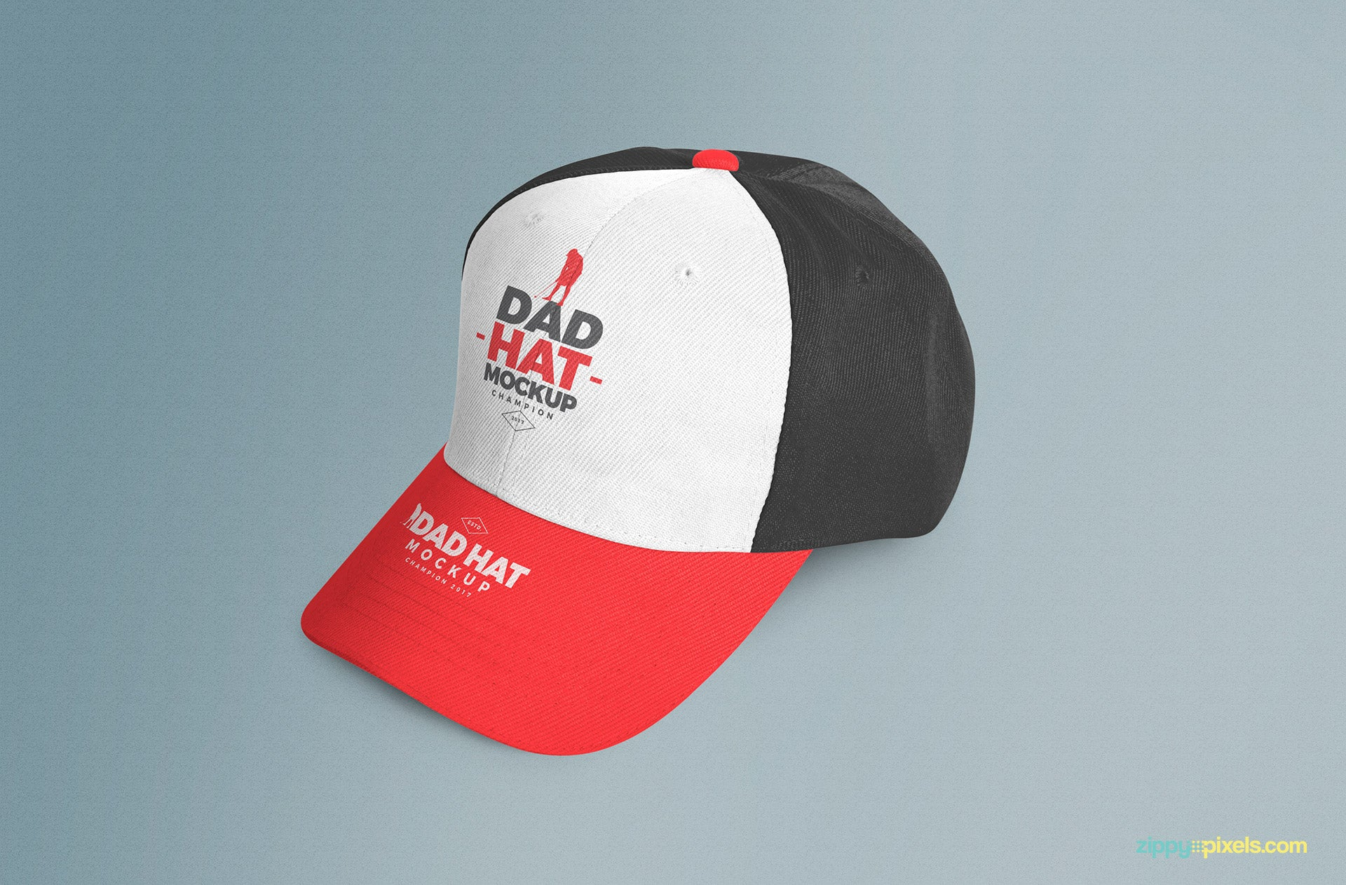 4c0c7d66f Customizable Dad Hat and Cap Mockup PSD - Mockup Hunt
