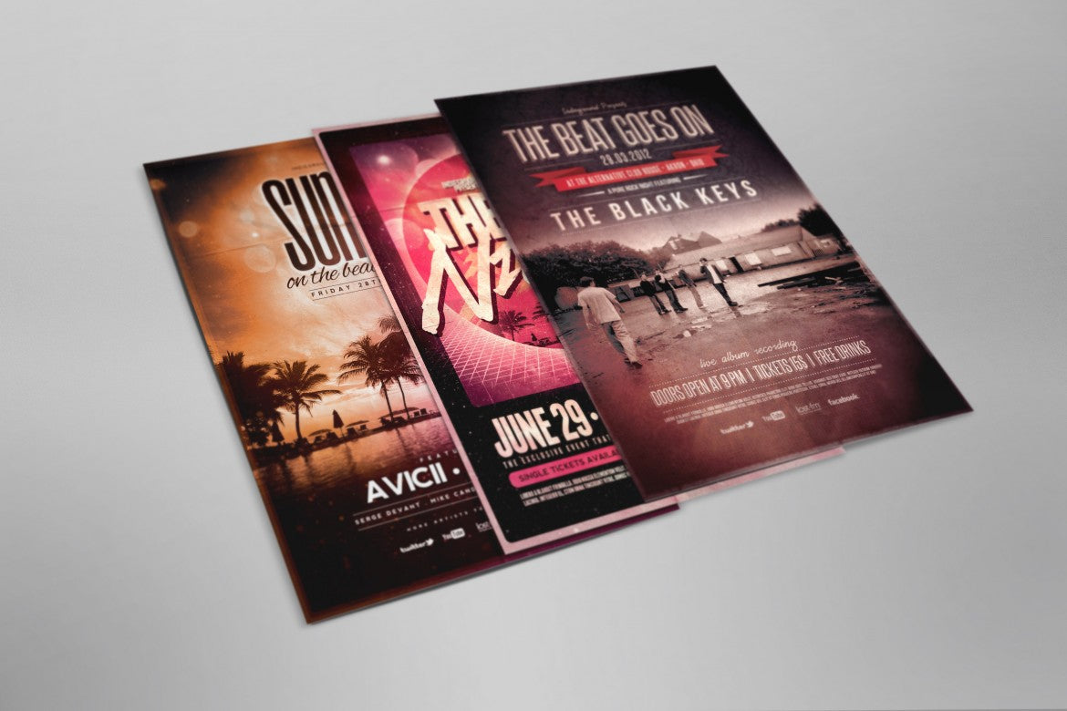 Flyer and Poster Top Side View (Mockup) - Mockup Hunt