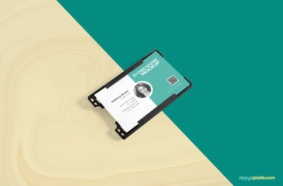 Business ID Card Holder Mockup