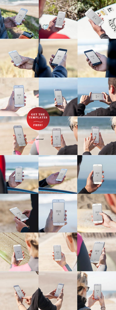 20+ iPhone 6 Mockup Templates