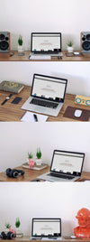 Macbook Office Table Workspace Mockup