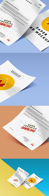 A4 Paper Close-up PSD Mockup