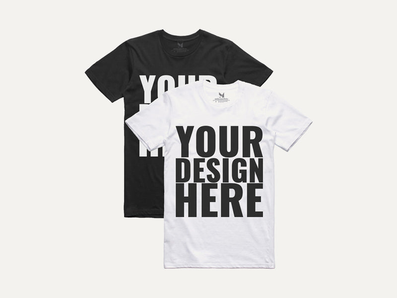 5a330b24 Realistic Black and White T-shirt Mockups - Mockup Hunt