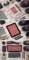 Stationery Device Mockups with Accessories