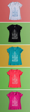 Color-Changeable Woman T-Shirt Mockup