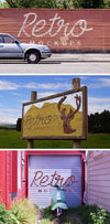 Retro Street Wall and Sign Mockups