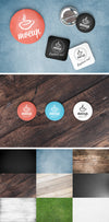 Button Badges Mockup Scene Creator