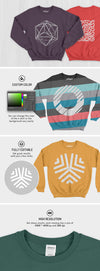 The Top-Notch Crewneck Sweatshirt Mockups