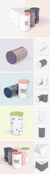 Tin Canister Mockup Set of Clean Designs