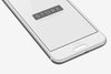 Silver White HTC One Android Mobile Phone Mockup