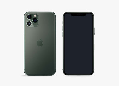 Green iPhone 11 Pro PSD Mockup