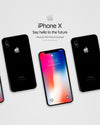 Perfect iPhone X Black PSD Mockup