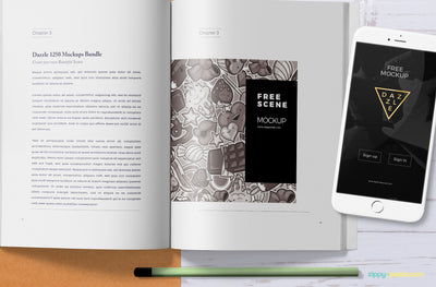 Attractive Book Mock Up Scene