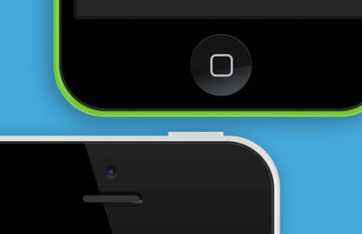 iPhone 5C Vector PSD Mockup