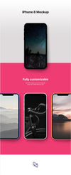 Super-Neat iPhone 8 Mockup PSD