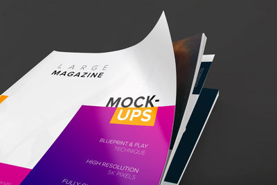 Large Magazine Cover Close Up View (Mockup)