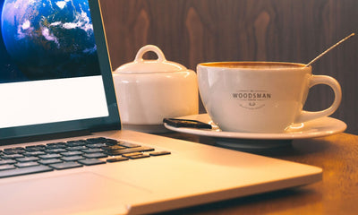 Macbook Pro And Coffee Cup Mockup Scenery