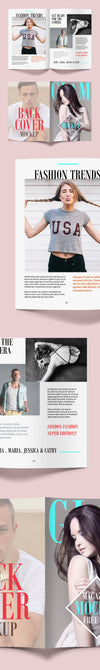 Fashion Magazine Mockup PSD Template