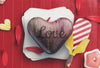 Shopping Craft Paper Bag and Heart Mockup