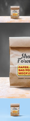 Front View Paper Bag Mockup PSD
