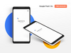 Google Pixel 2 XL PSD mockup Front and Isometric views