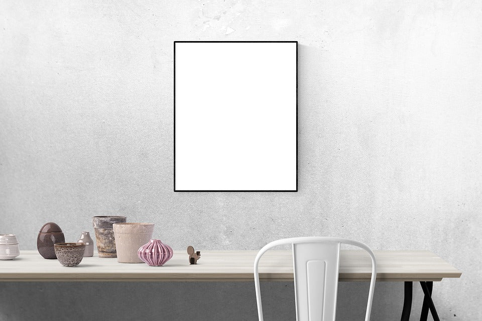Clean and Beatiful Blank White Frame or Poster Photo Mockup - Mockup ...