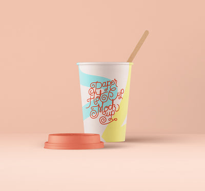 Hot Cup Paper Mockup Psd Template