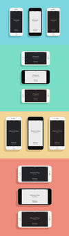 Flat iPhone 6 and 6s Mockup Psd