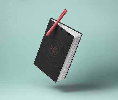 Floating Book Psd Mockup Hardcover