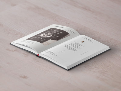 Open Hardcover Book Mockup Perspective View
