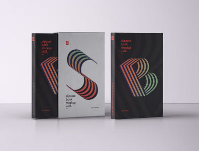 Slipcase Book Psd Mockup Design Front View