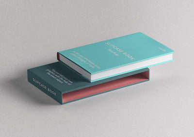 Slipcase Book Psd Mockup Perspective View